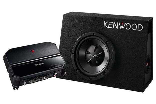 Kenwood Vented Enclosure Box Subwoofer  + KAC-5207 Package